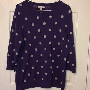 New York and Company Purple Sweater